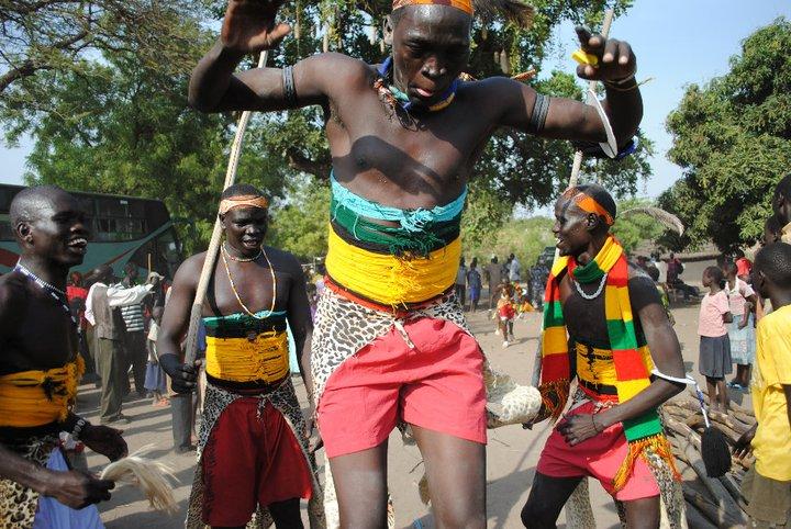 Dinka dancing